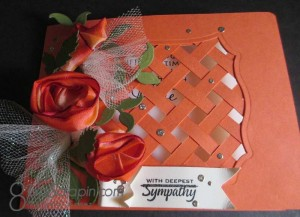 Ribbon Roses trellis card