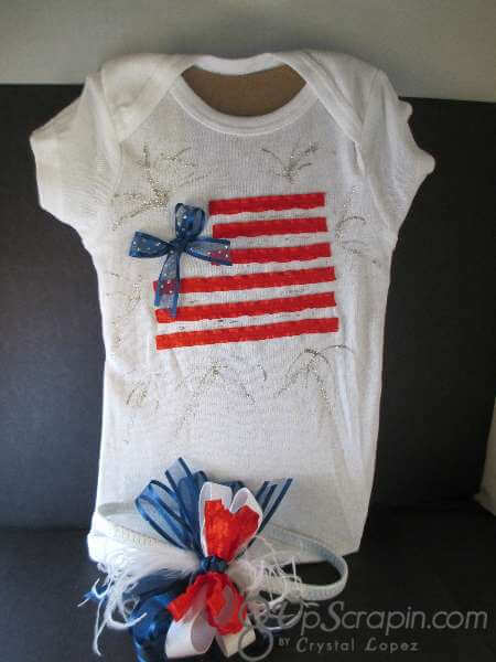 ribbons unlimited flag onesie 008