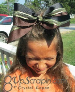 Cheer Bow by Crystal