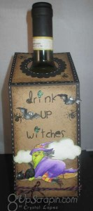 Wine Tag.. Drink up Witches