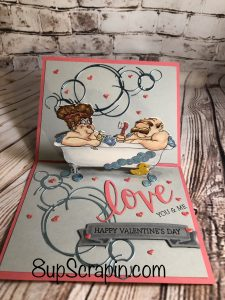 Love you & me pop up card ….